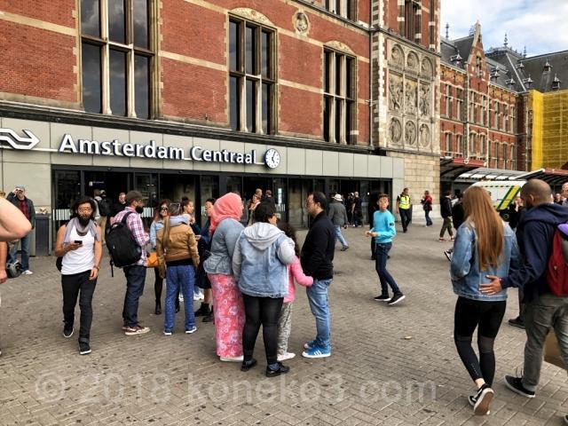 アムステルダム中央駅の駅舎