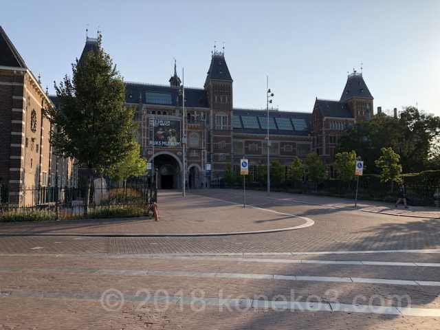 朝のアムステルダム国立美術館