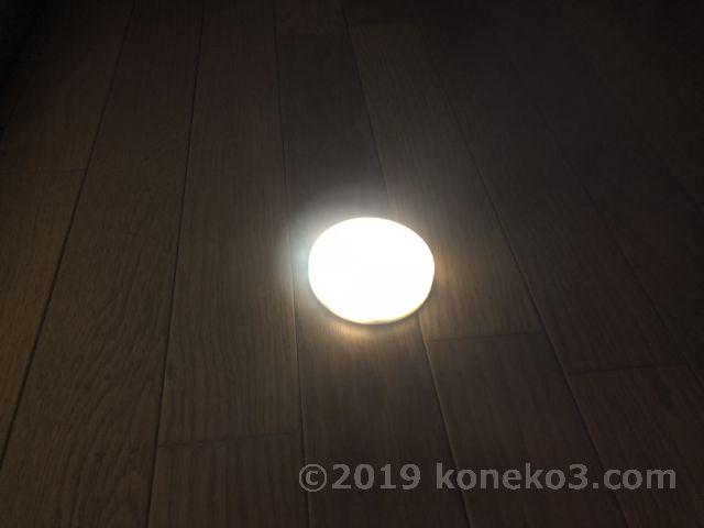 夜間の点灯