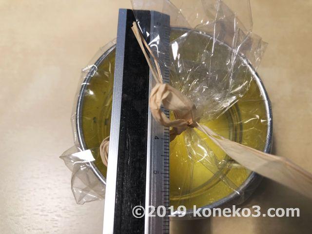 ブリキ缶の直径