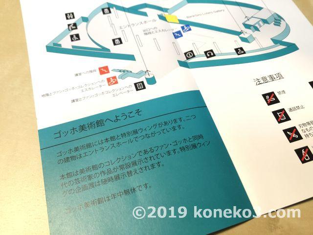 日本語のフロアマップ