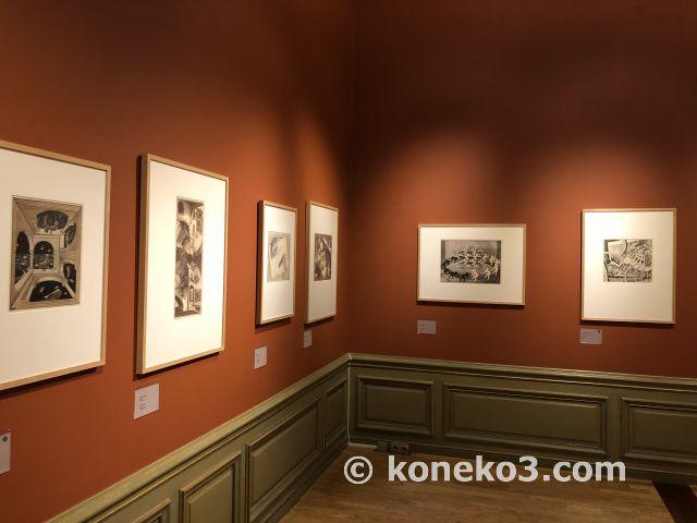 エッシャー美術館の展示