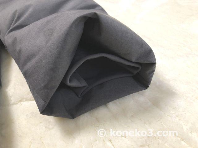 防風仕様の袖口