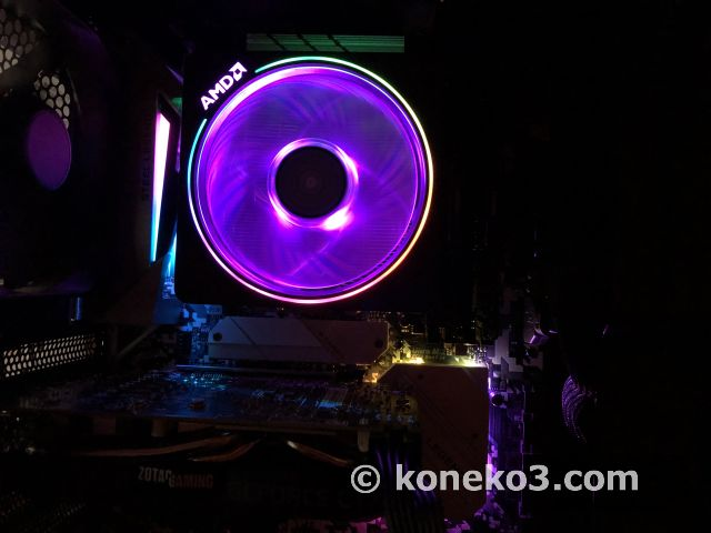 AMDのRGB LED CPUファン