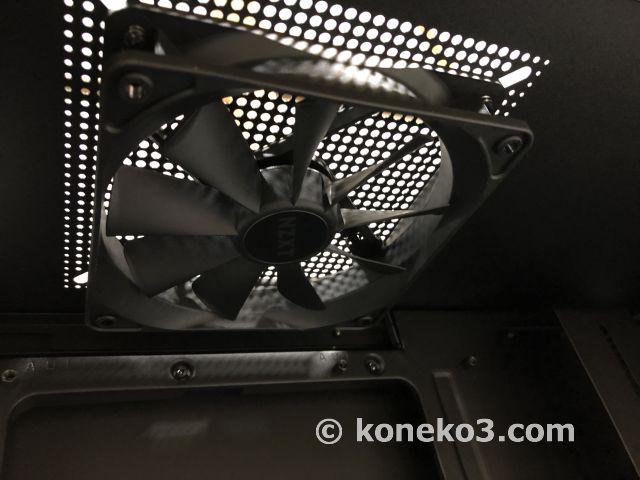 天板裏の12cmケースファン