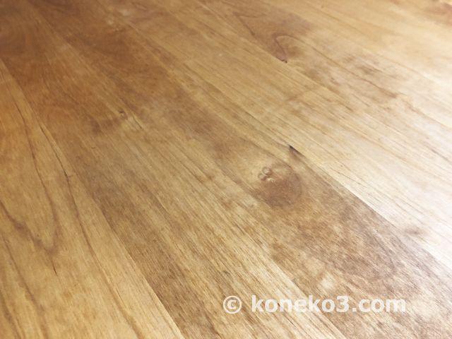 無垢ダイニングテーブルの汚れ