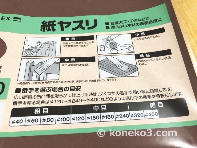 木工における紙やすりの選び方