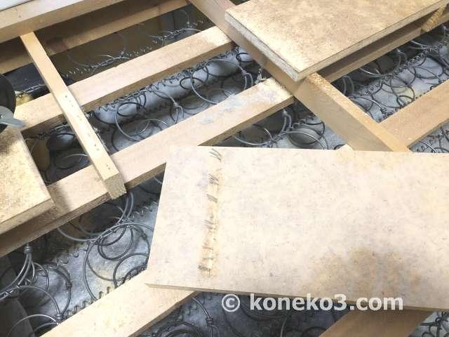 木枠フレームの解体