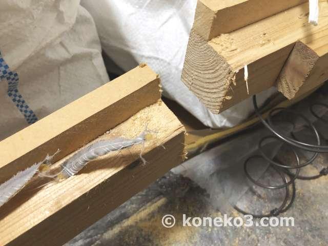 太めの木材も余裕で切断