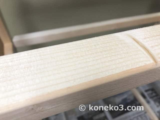 未塗装の木枠