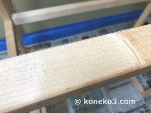 乾燥した木枠