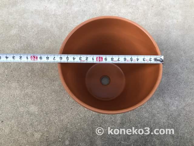 素焼き鉢のサイズ