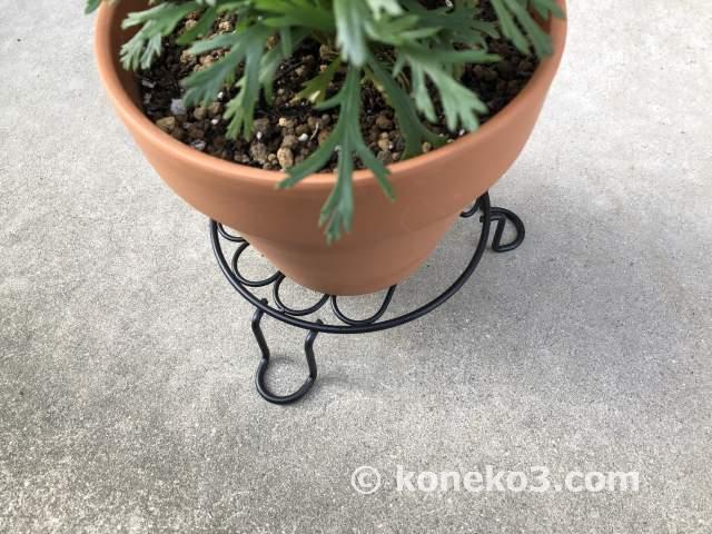 植木鉢を置いた状態