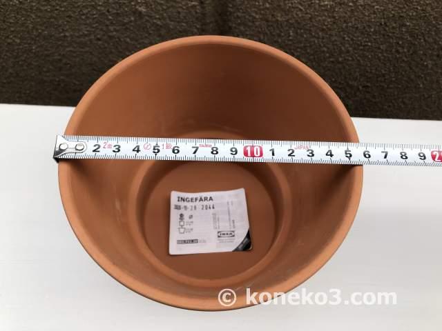 素焼き鉢の外径